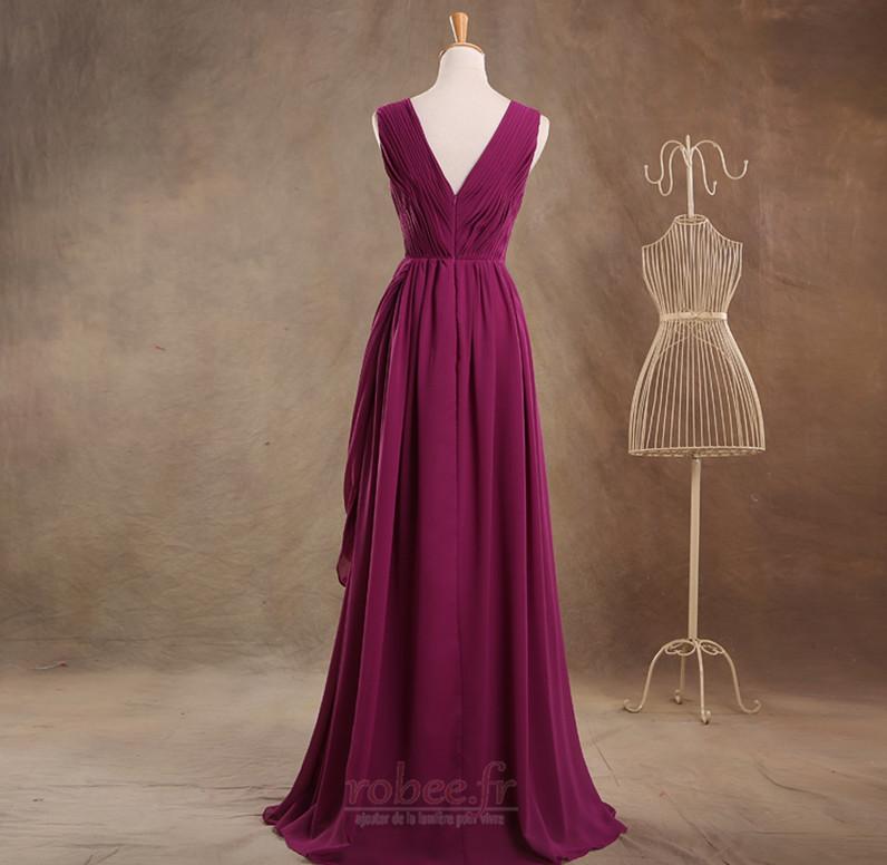 Robe de demoiselle d'honneur Luxueux Fermeture à glissière Mariage 2