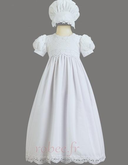 Robe de fille de fleur Princesse Haute Couvert Cérémonial Manche Courte 1