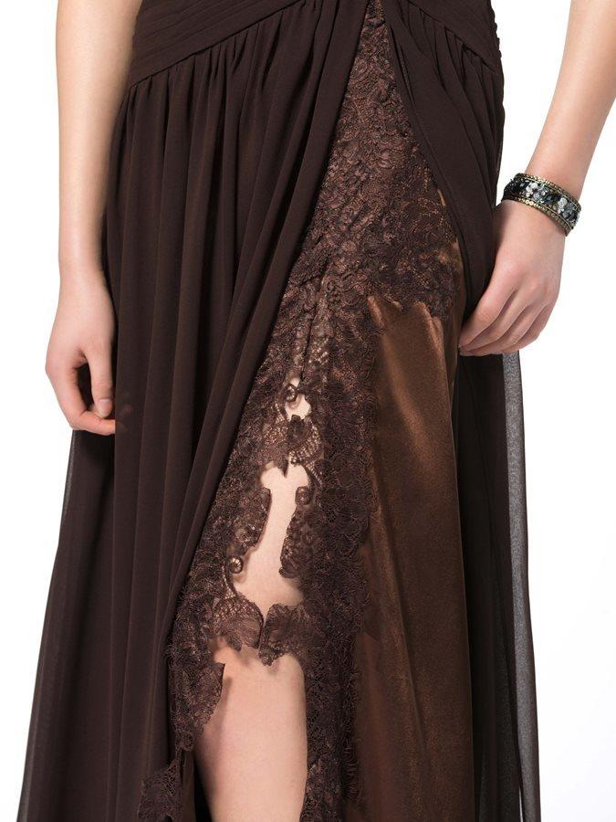 Robe de soirée Fourchure Frontale Sexy Longueur Cheville Ample & Ornée 5
