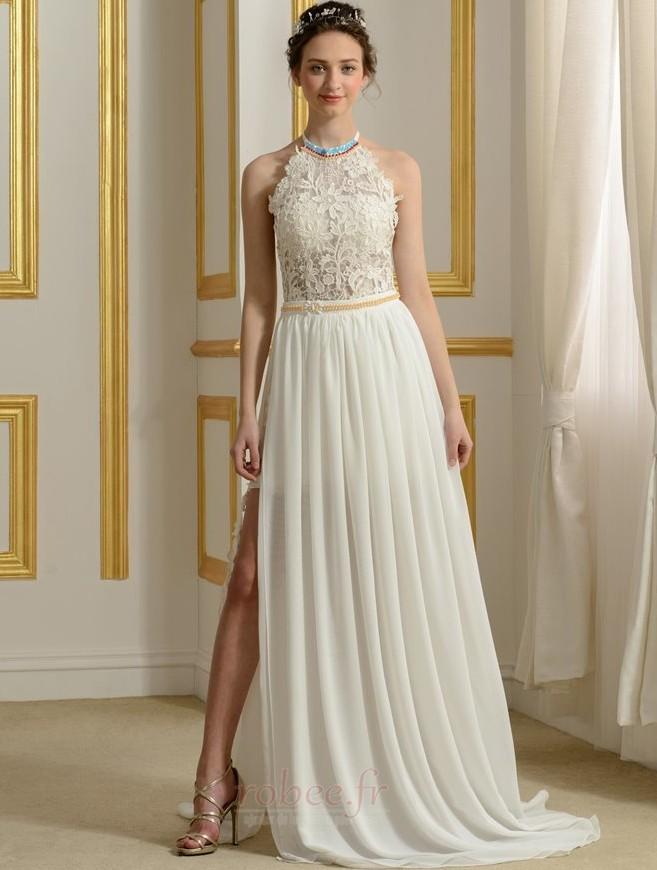 robe de mari e sans manches perle moderne couvert de dentelle. Black Bedroom Furniture Sets. Home Design Ideas