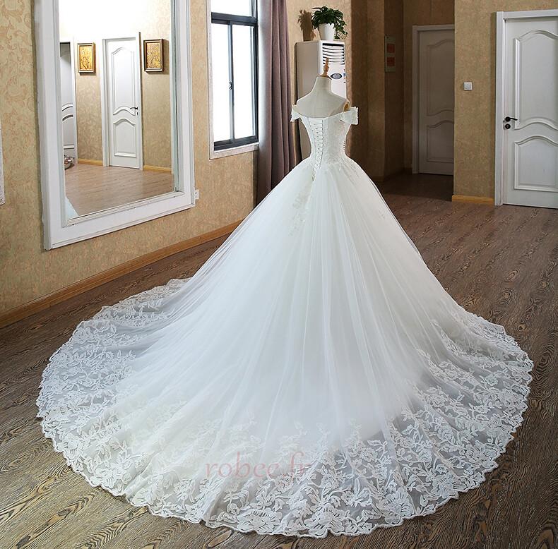 Robe de mariée Mancheron Formelle Eglise Perles net a ligne 2