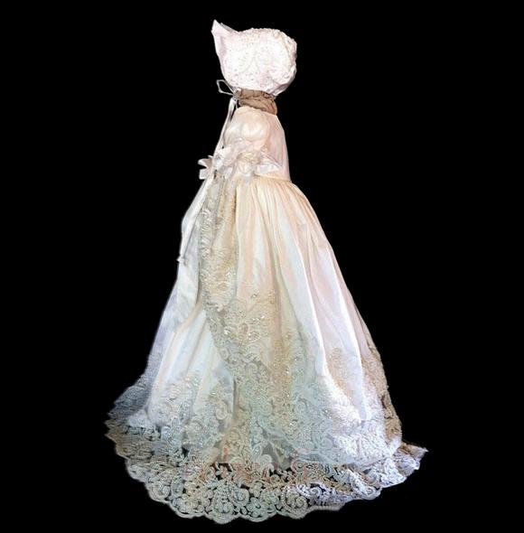 Robe de fille de fleur Princesse Manche Courte Printemps Longue 2