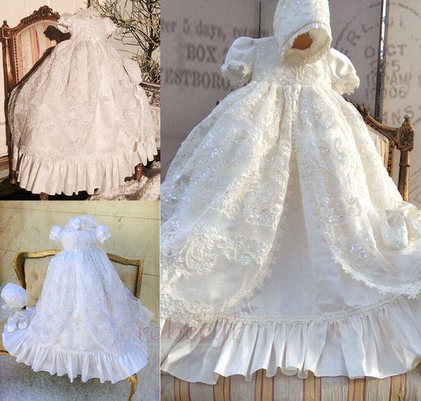 Robe de fille de fleur Bébé Manquant Perle Chapeau Naturel taille 2