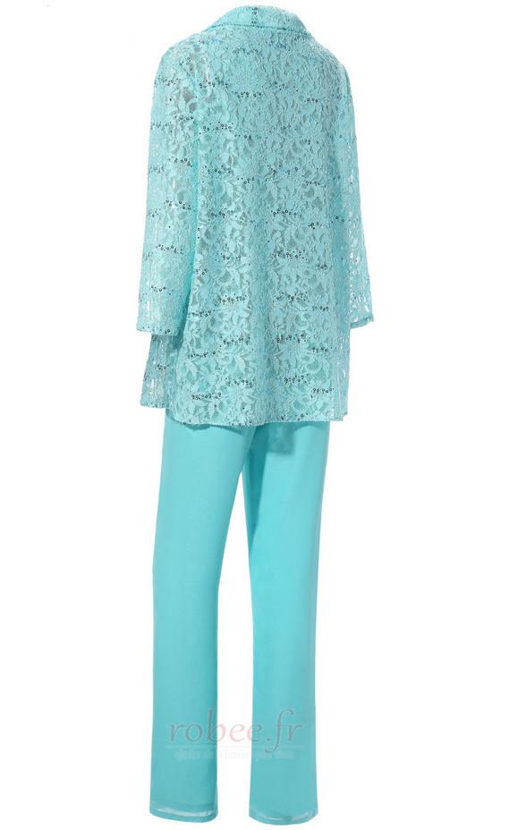 Robe mères Un Costume Luxueux Avec des pantalons Couvert de Dentelle 3