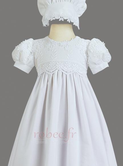 Robe de fille de fleur Princesse Haute Couvert Cérémonial Manche Courte 3