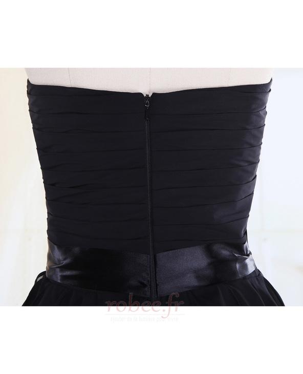 Robe de demoiselle d'honneur Fourreau plissé Taille chute Sablier 7