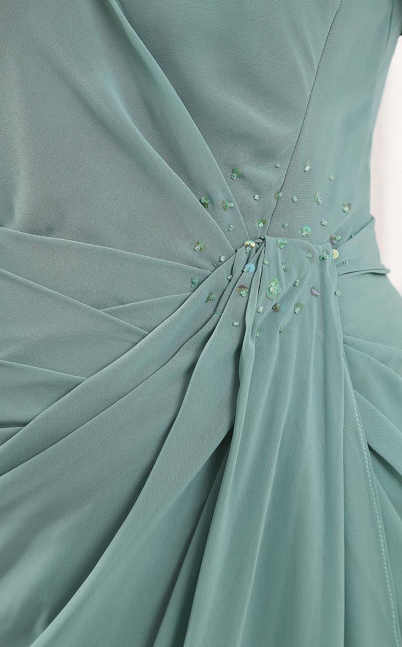 Robe mères Sirène Fourreau plissé élancé Festin Mousseline Ample & Ornée 7