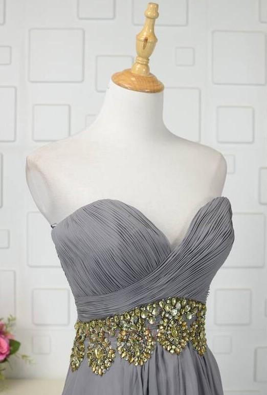 Robe de bal Fermeture à glissière Asymétrique Printemps Mousseline 4