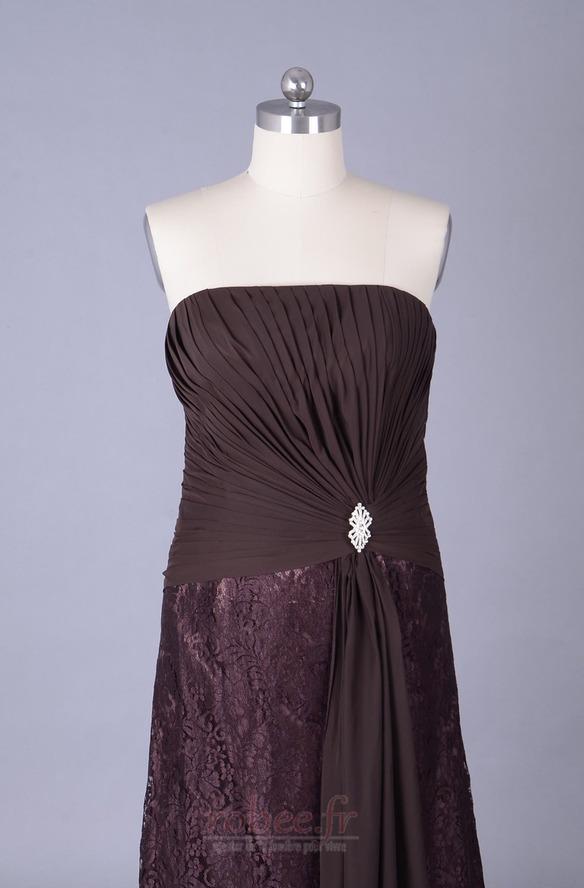 Robe mères Longueur de plancher Sans courroies Petites Tailles 4
