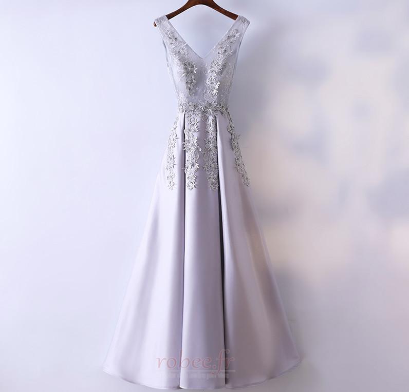 Robe de demoiselle d'honneur Luxueux Festin Sans Manches Dos nu 1
