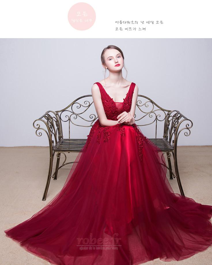 Robe de demoiselle d'honneur Tulle A-ligne Sans Manches Naturel taille 7