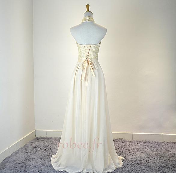 Robe de demoiselle d'honneur Mousseline Mariage Traîne Courte 2