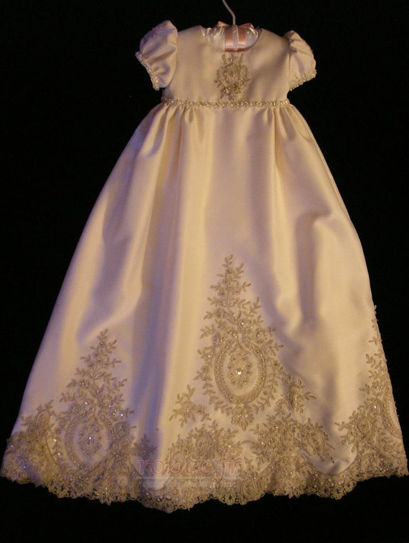 Robe de fille de fleur Princesse Petit collier circulaire Haute Couvert 1