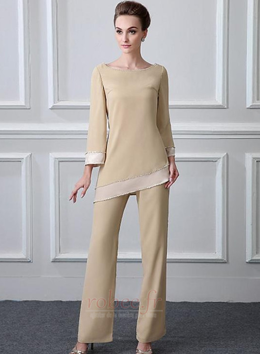 Robe mères Col Bateau Manche de T-shirt Haute Couvert Perle Naturel taille 1