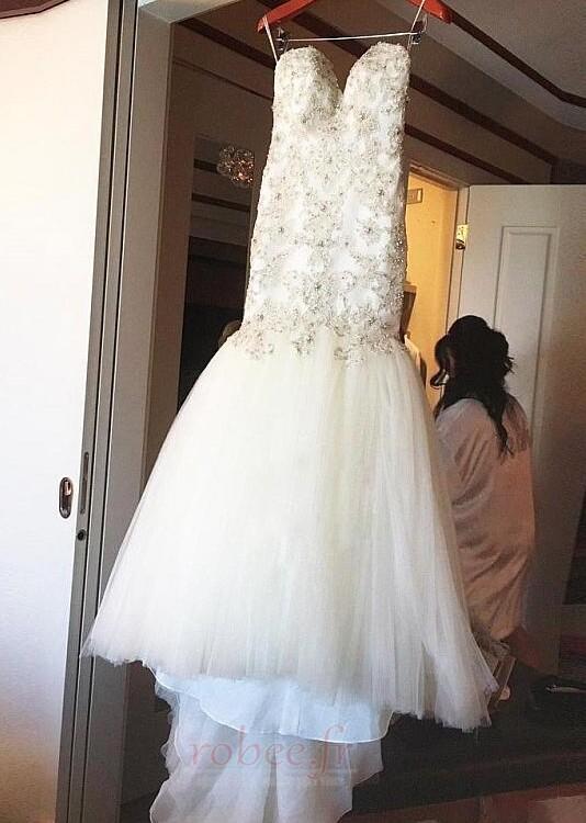 Robe de mariée Tulle Rivage col coeur Sans Manches Norme Perle 4