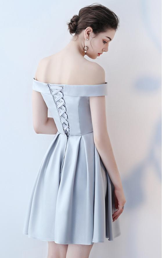 Robe de demoiselle d'honneur Longueur de genou Satin Norme A-ligne 12