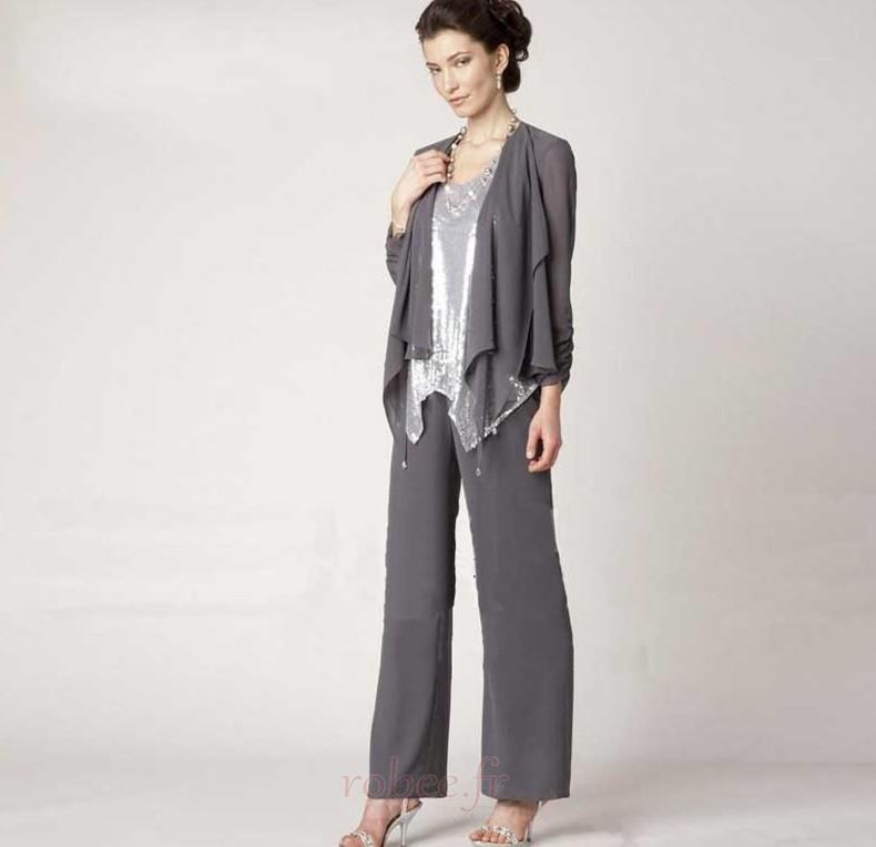 Robe mères Un Costume Avec des pantalons Naturel taille Longueur Cheville 3