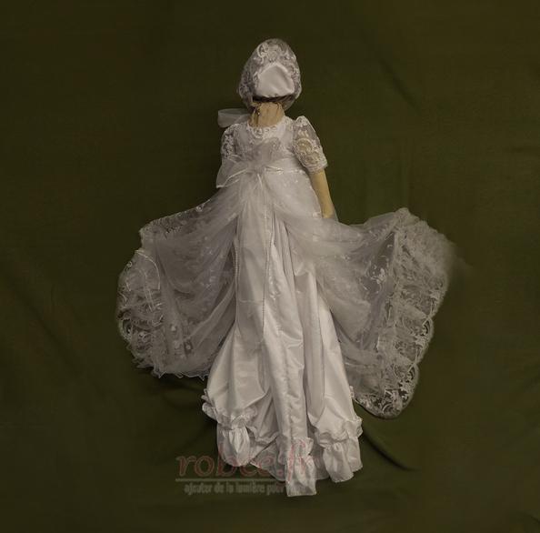 Robe de fille de fleur Bébé Col de chemise t Longue Haute Couvert 2