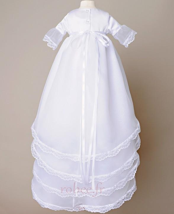 Robe de fille de fleur Princesse Haute Couvert Naturel taille 1