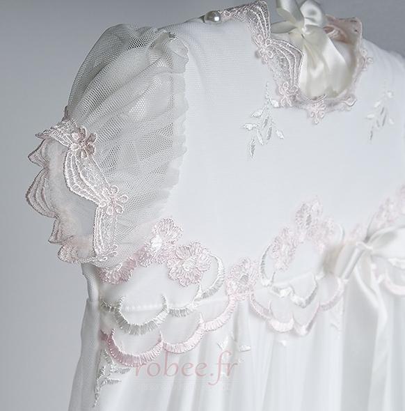 Robe de fille de fleur Princesse Dentelle Petit collier circulaire 2