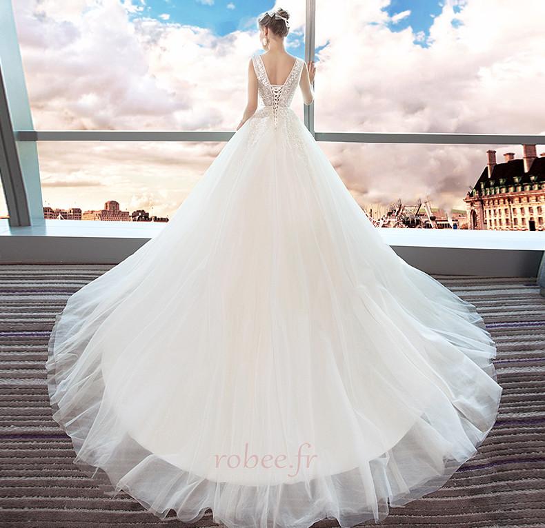 Robe de mariage Norme A-ligne Sans Manches Formelle Automne Naturel taille 2