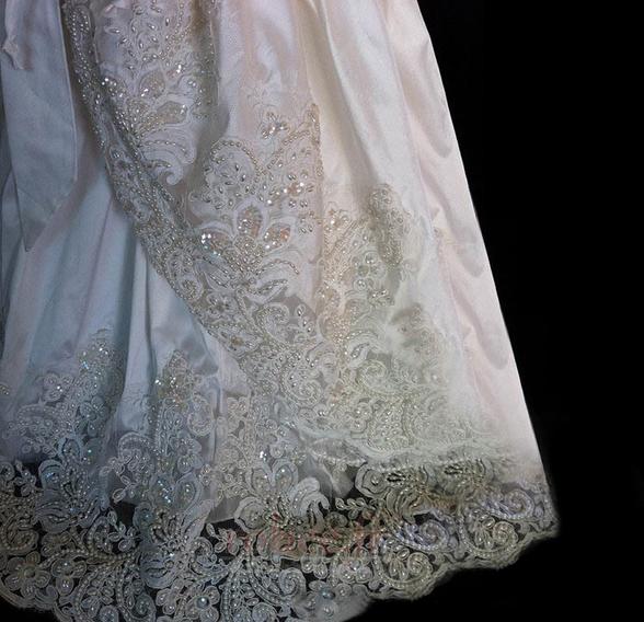 Robe de fille de fleur Princesse Manche Courte Printemps Longue 3