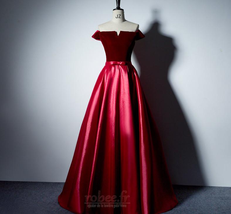 Robe de bal Laçage Rosée épaule Poches Fête Sans Manches a ligne 11