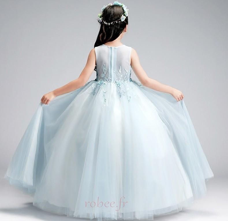 Robe de fille de fleur Luxueux Été aligne Sans Manches Balançoire 2