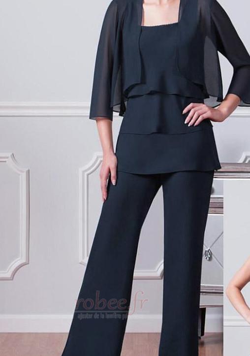 Robe mères Un Costume Chiffon Été Haute Couvert Gradins Elégant 2