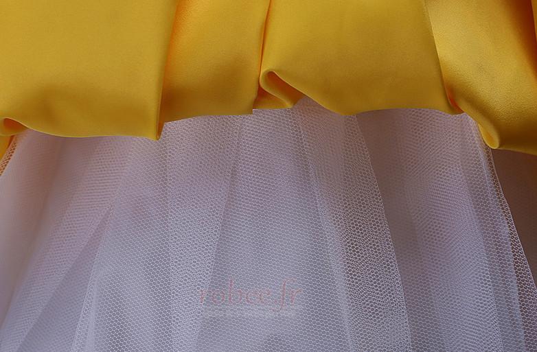 Robe de fille de fleur Longueur de plancher Soie Fermeture à glissière 5