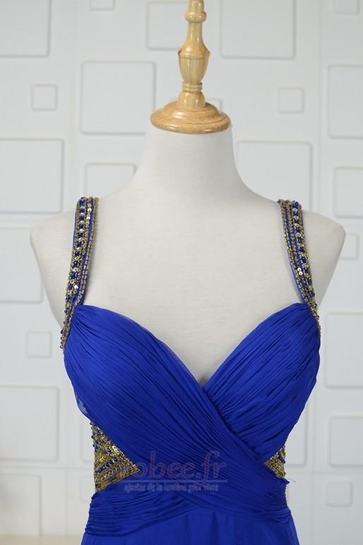 Robe de bal Triangle Inversé Larges Bretelles Fourreau plissé 4