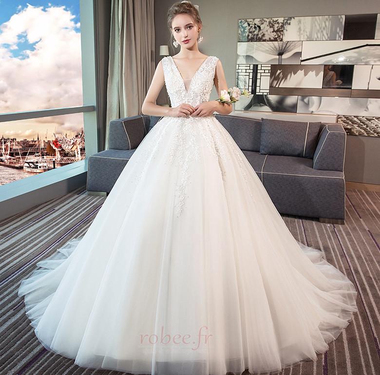 Robe de mariage Norme A-ligne Sans Manches Formelle Automne Naturel taille 1