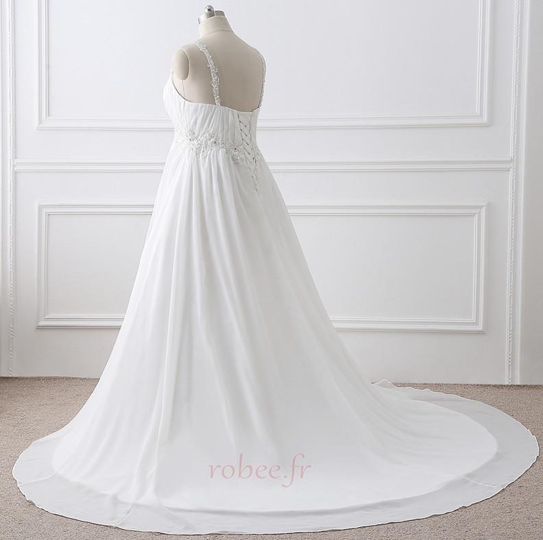 Robe de mariée Grandes Tailles Larges Bretelles Empire Chaussez 3
