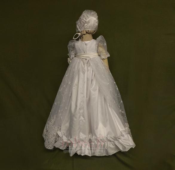 Robe de fille de fleur Princesse Dentelle Cérémonie Ceinture en Étoffe 2