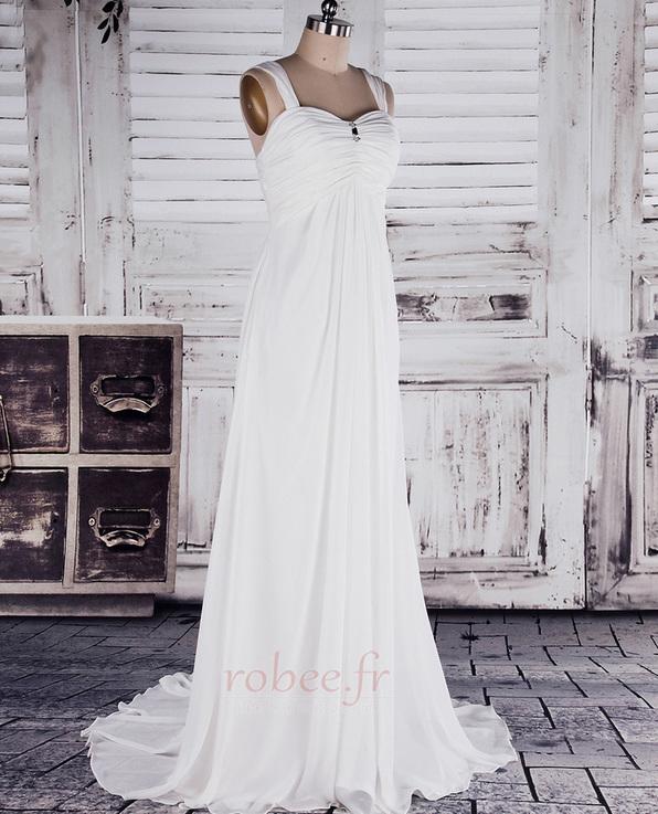 Robe de mariée Col en Cœur Sage Sans Manches Printemps noble 2