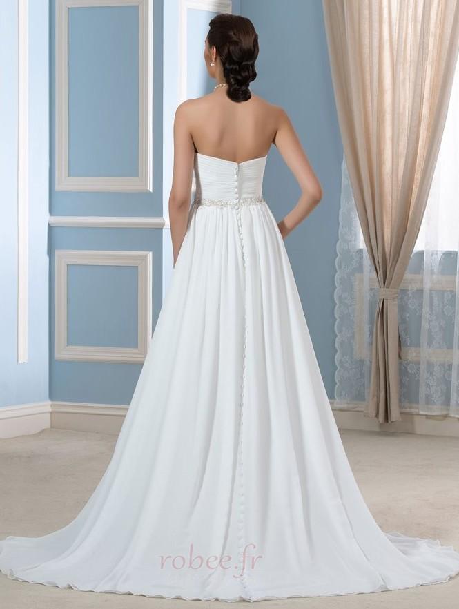 Robe de mariée Rivage Longue A-ligne Décolleté Dans le Dos Naturel taille 2