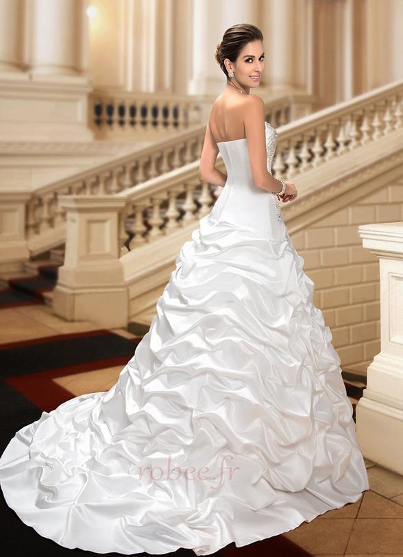 Robe de mariée Hiver Scintillait Princesse Asymétrique Satin 6