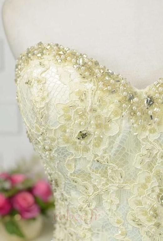 Robe de bal Moderne Sans Manches Naturel taille Ruchés Plongeants 6