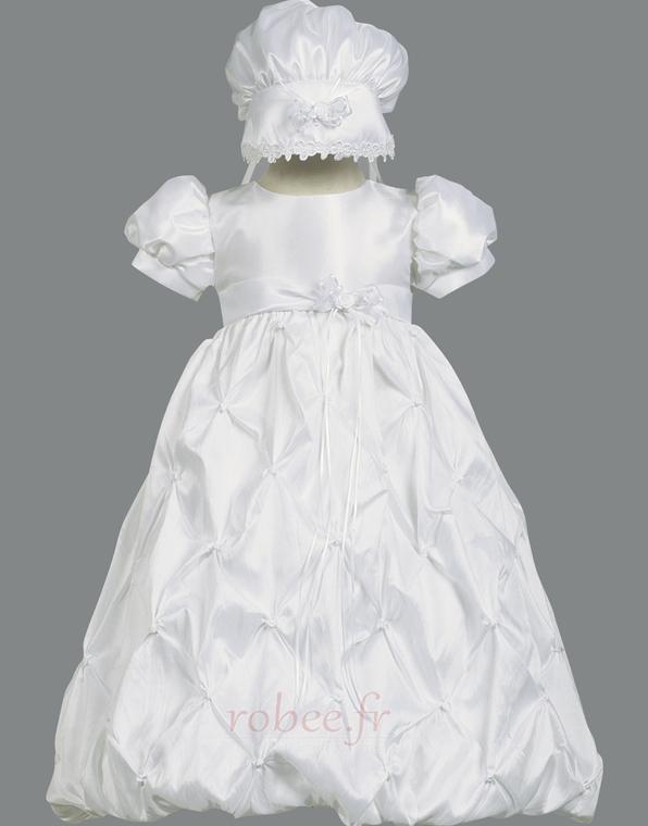 Robe de fille de fleur Princesse Longue Chapeau Nœud à Boucles 1