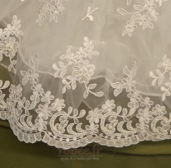 Robe de fille de fleur Cérémonie Bébé Dentelle Manche Courte 4