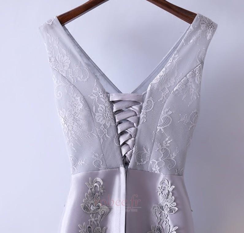 Robe de demoiselle d'honneur Luxueux Festin Sans Manches Dos nu 3