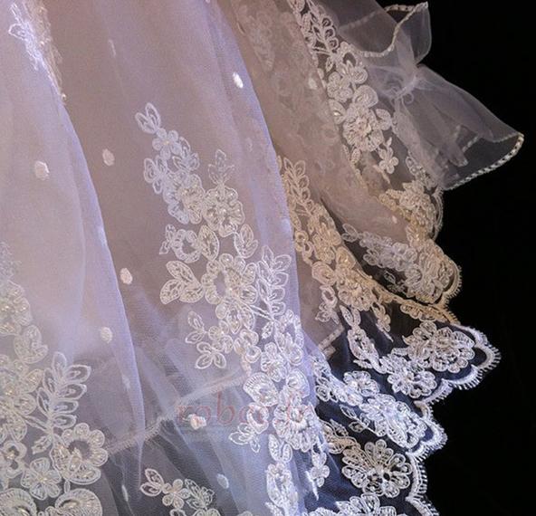 Robe de fille de fleur Dentelle Longue Princesse Chapeau Bébé 4