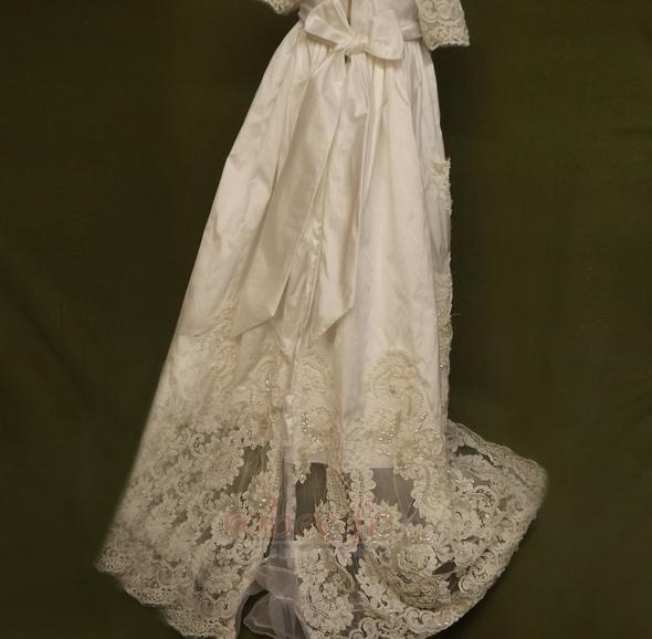 Robe de fille de fleur Manche Aérienne Naturel taille Princesse 3